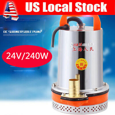 NEW DC 24V / 12V Solar Powered Submersible Deep Water Well Pump Farm Ranch Pool