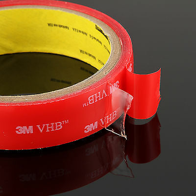 3M VHB #4905 Double-sided Clear Transparent Acrylic Foam Adhesive Tape 5~20mm