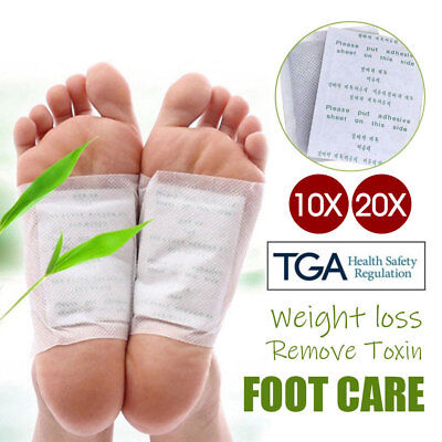 10/20 Detox Foot Patch Pads Natural plant Toxin Removal + Sticky Adhesives