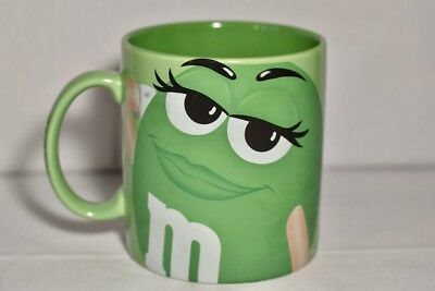 RARE M&M MS. GREEN Coffee Mug Mars Inc. COLLECTABLE Cup 20 oz