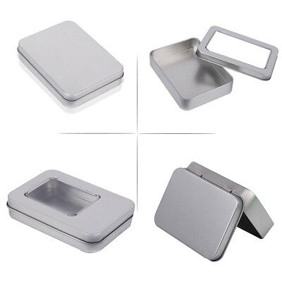 New Metal Tin Silver Small Storage Box Case For Money Coin Candy Keys Organizer