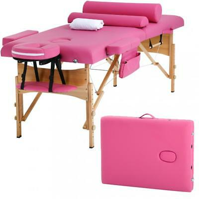"""Massage Table Massage Bed Spa Bed Height Adjustable 2 Fold Portable 73"""""""