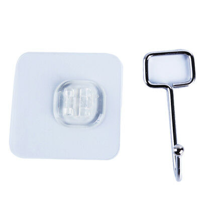 Bathroom Kitchen Wall Hooks Strong Suction Cup Stainless Steel Hanger Hook HZ