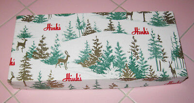 Vintage 1950s Small Gift Box Hink's Company Department Store Berkley Christmas