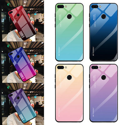 Gradient Tempered Glass Case For Huawei Mate20 Lite P20 Pro Honor 8X Cover Cases