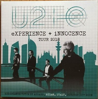 "U2 ""experience + Innocence Tour 2018"" Rare Double Cd Live In Milan Neuf !"