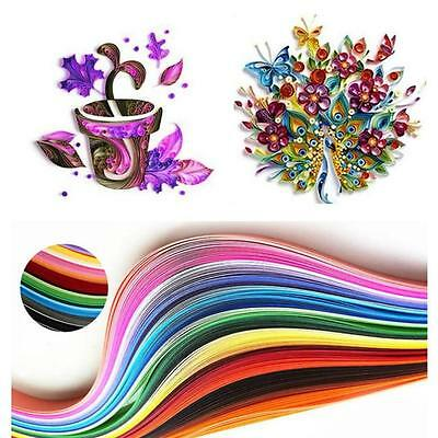 Cute 260 Stripes Quilling Paper 3/5/7/10mm Width Mixed Color For DIY Craft BM