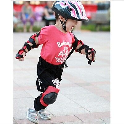 Kids Skating Protective Gear Set Skateboard Knee Elbow Wrist Pad Safety Guard BM