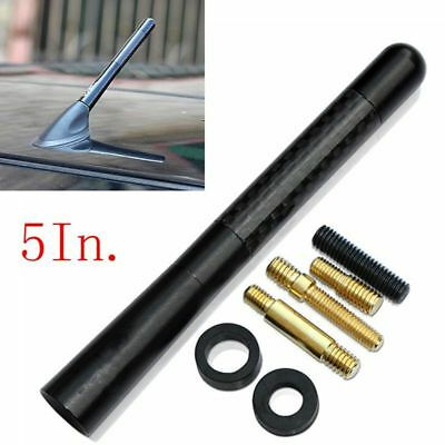 Car Bee-Sting Short Stubby Black Carbon Fibre Ariel Aerial Arial Mast Antenna Gb