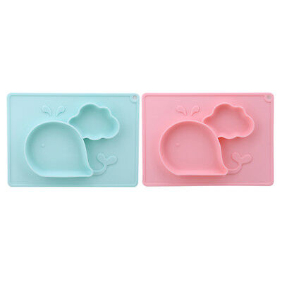 Cute Whale Silicone Mat Baby Kids Table Food Tray Placemat Plate Bowl Mat HZ