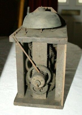 Antique Weight/Chain Driven POSTMAN'S Wall Clock Movement, Spares/Repair/Parts