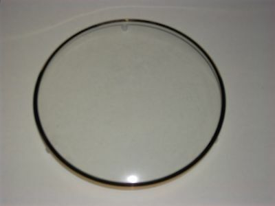 BRASS FIXED BEZEL CLOCK FRONT DOME GLASS 130mm or 200mm DOMED METAMEC PRESIDENT