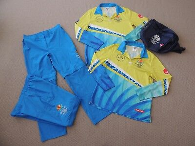 Ladies Commonwealth Games Gold Coast 2018 Uniform Shirt Pants Bag Sz M - L