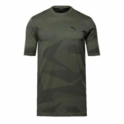 56640f9a70d Puma EvoKNIT Image Tee Mens Grey Short Sleeves Graphic T-shirt 574462 04  RW108