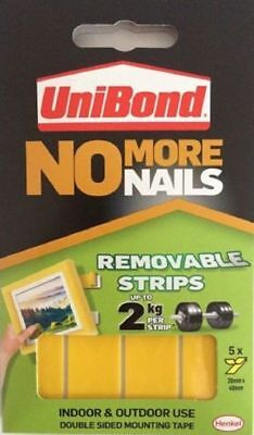 Unibond No More Nails Picture Hanging Strips Double Sided Mount Tape Adhesive