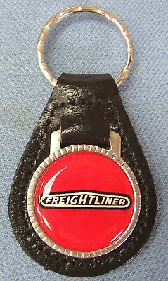 Red Ford LTD Black Leather #3171 Key Ring Key Holder Key Fob