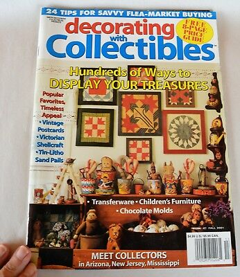 Decorating with Collectibles Magazine Fall 2001 Display Your Treasures