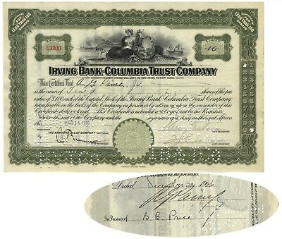 Stock Certificate Issued to and Signed by Augustus G. Paine, Jr.