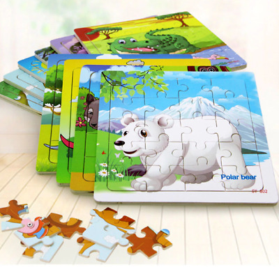 Wooden Puzzle Kids Toy - Wooden Jigsaw Puzzles - Educational Toys for Children