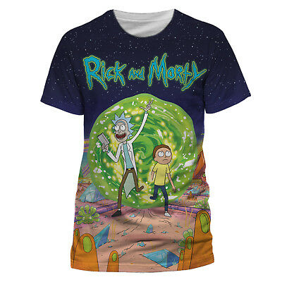 Official RICK AND MORTY T Shirt Jumbo Portal Sublimation White Mens NEW S M L XL