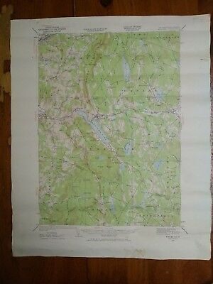 Vtg.Topographical Map Mascoma, New Hampshire-Vermont 1927 #2