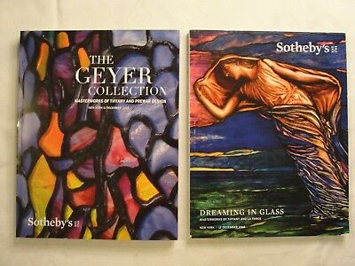 2 Sotheby's Dec 11, 12 2018 Auction Catalogs; Geyer & Dreaming In Glass; Tiffany