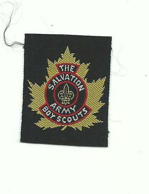 Scout Canada The Salvation Army Boy Scouts Woven Patch Canadian Badge Maple Leaf
