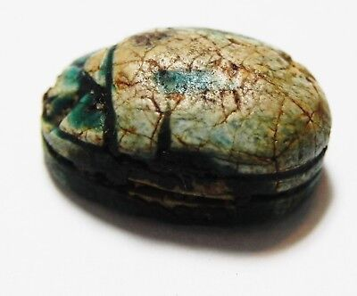 ZURQIEH -as10211- ANCIENT EGYPT. NEW KINGDOM STONE SCARAB. 1300 B.C