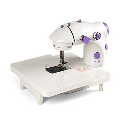 Portable Mini Sewing Machine with Extension Table, 2 Speeds Sewing Machi