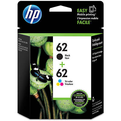 HP #62 Combo Ink Cartridges 62 Black & Color GENUINE