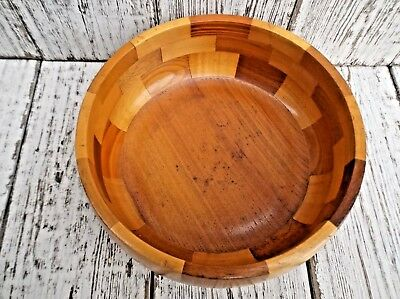 Vintage Mid Century Wooden Fruit Bowl - Mixed Woods