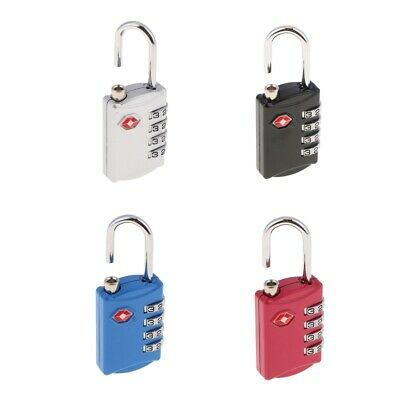 4 Digit Combination Travel Suitcase Luggage Bag Lock Padlock Reset TSA-309