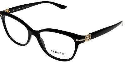 d025ceed4aa8 NEW VERSACE EYEGLASSES VE 3205-B GB1 54-16 Black   Gold Frame with ...