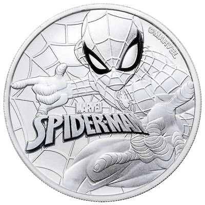 2017 1 oz Tuvalu Spiderman Marvel Series Silver Coin .9999 Fine, limited Edition