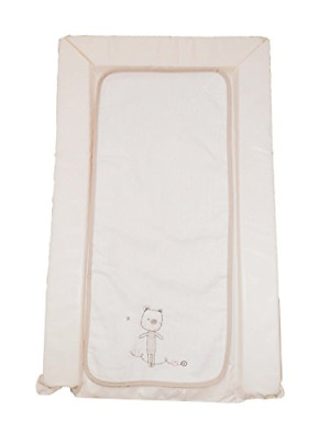 Deluxe Cream Changing Mat With Detachable 100% Cotton Soft Liner - Unisex Little