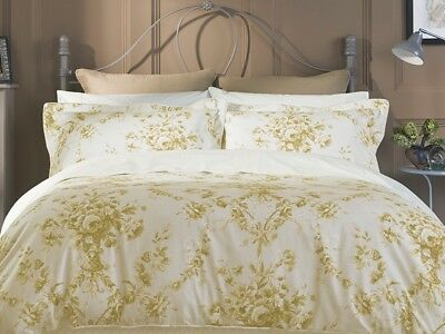 100% Quality Luxurious Christy Bed Linen Toile Sand Double Size Duvet Cover Set