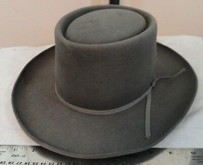c072b3317 VINTAGE RESISTOL SZ 7 Gray Drifter Hat Self Conforming needs cleaning