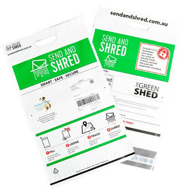 Easy home office paper shredding service - post - Send and Shred Pack $39.90