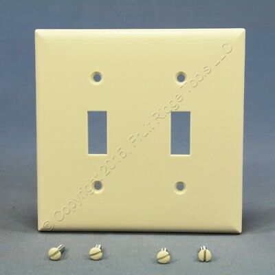 Cooper Lt Almond 2G Toggle Switch Cover Wallplate Plastic Switchplates 2139LA