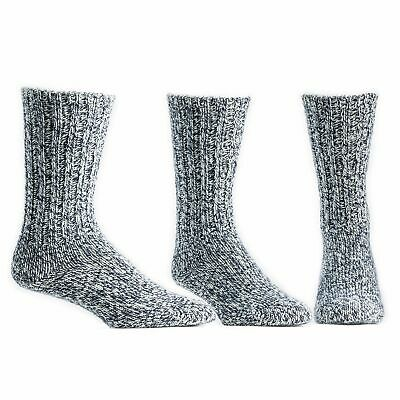 Ballston Unisex Thermal Merino Wool Ragg Socks for Winter Hiking - 3 Pairs