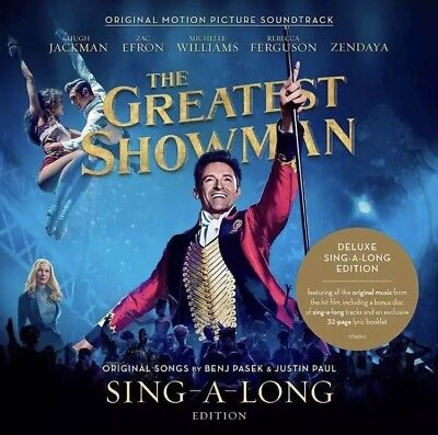 New Sealed - The Greatest Showman - Soundtrack 2 CD SING-A-LONG-EDITION