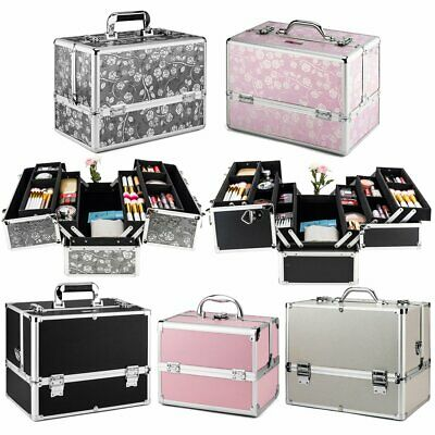Cosmetic Large Bag Case Vanity Beauty Make-Up Box Hairdressing Travel Trolley