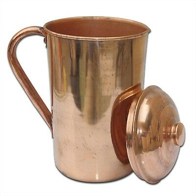 Pure Copper Water Jug  Copper Smooth Water 2 LTR ( 2000 ml ) Ayurvedic Hammered