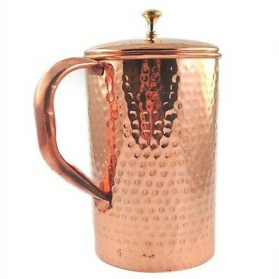 Pure Copper Water Jug Copper Smooth Water 2 LTR Copper Ayurveda Health Benefit