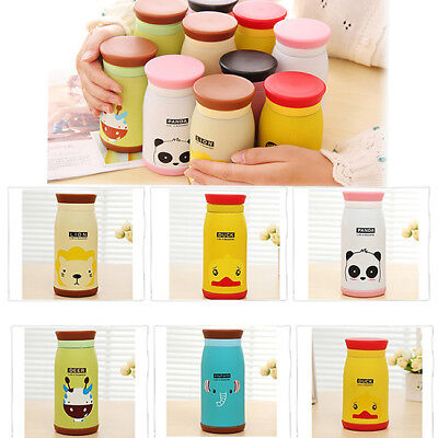 Cartoon Design Stainless Steel Tea Coffee Hot Drink Thermos Flask & Kids Cup HZ