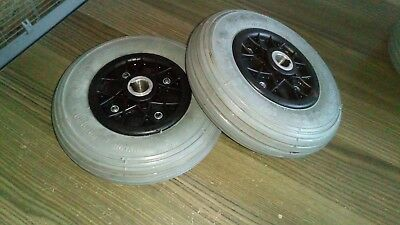Pair of Invacare Lynx Rear Wheels in good condition.Solid Tyres 200 x 50