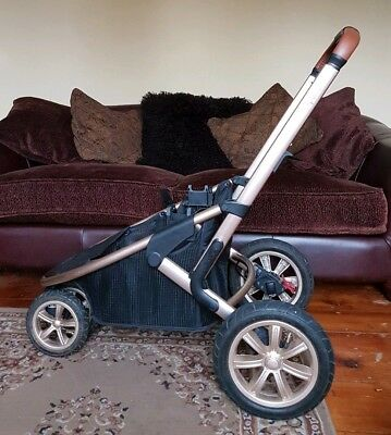 Mothercare Xpedior Special Edition Rose Gold Frame Chassis 3 Wheeler & Basket