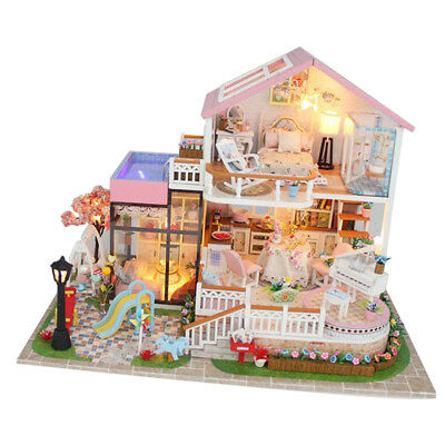 1/24 DIY Handcraft Miniature Project Kit Wooden Dolls House - Holiday Villa