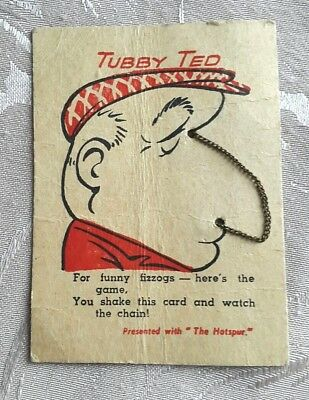 The Hotspur, Free Gift, Jan 12 1956, Tubby Ted Chain Face Toy, Funny Fizogs