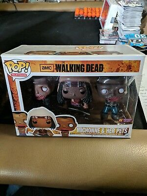 Pop! TV The Walking Dead Michonne and & Her Pets Pet 1 2 PX Previews Exclusive